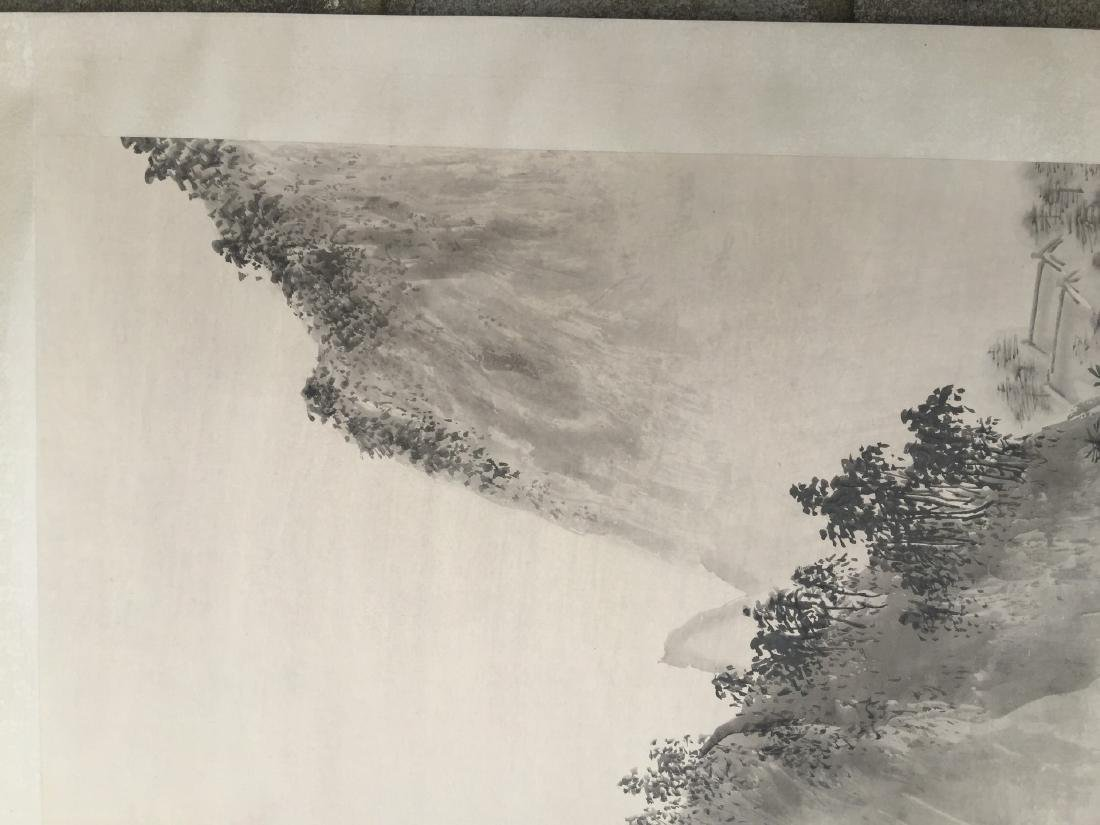 CHINESE SCROLL PAINTING Mountain Scene - 3
