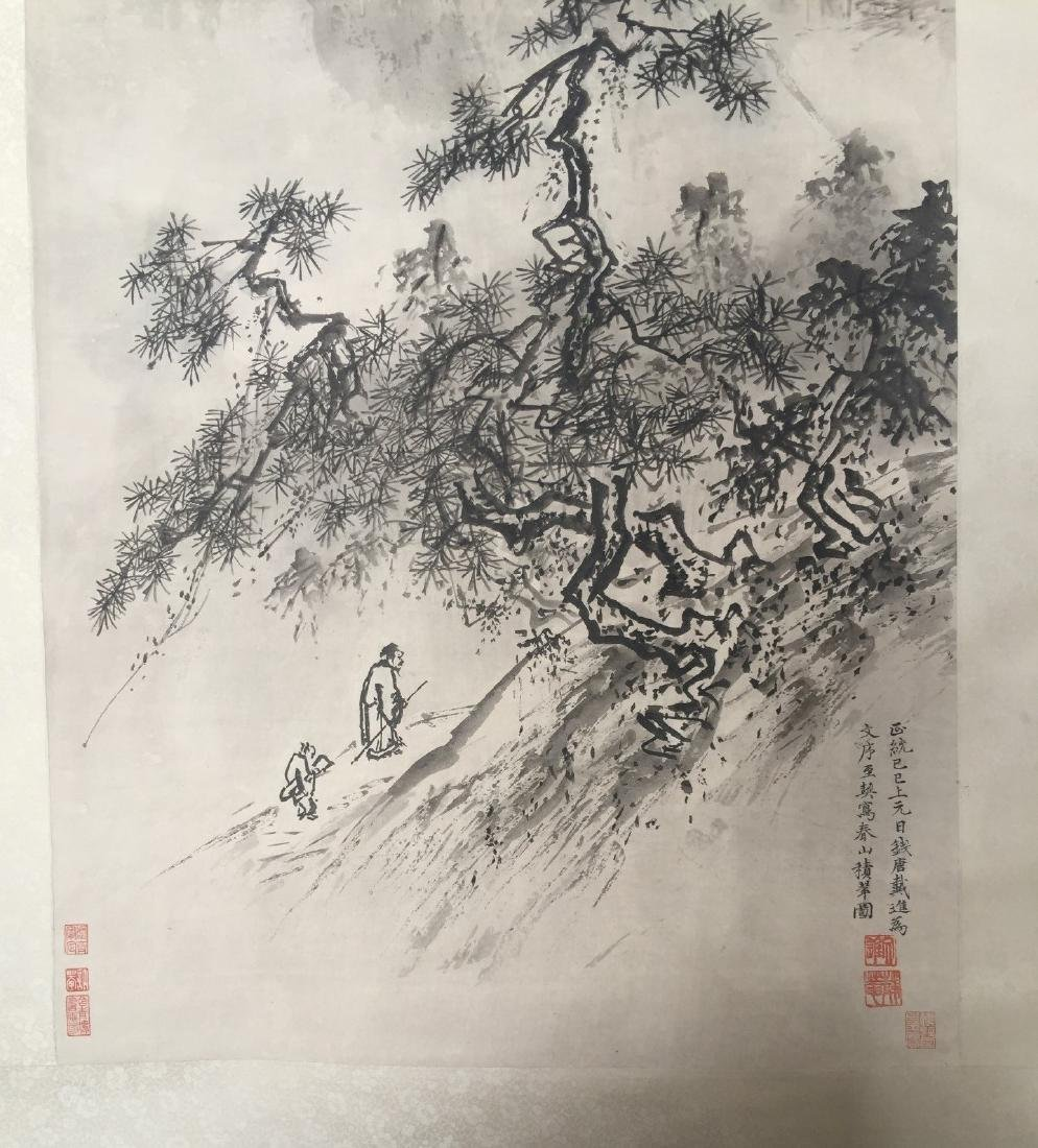 CHINESE SCROLL PAINTING Mountain Scene - 5