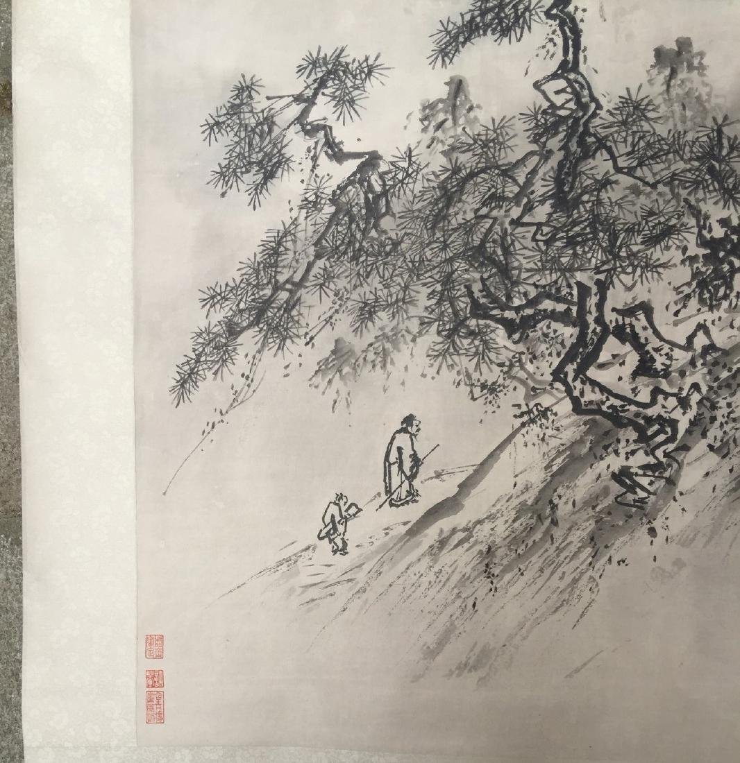 CHINESE SCROLL PAINTING Mountain Scene - 6