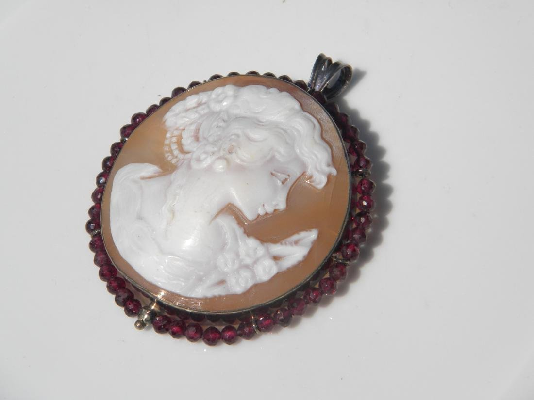 Vintage Cameo Pendant and Brooch Pin