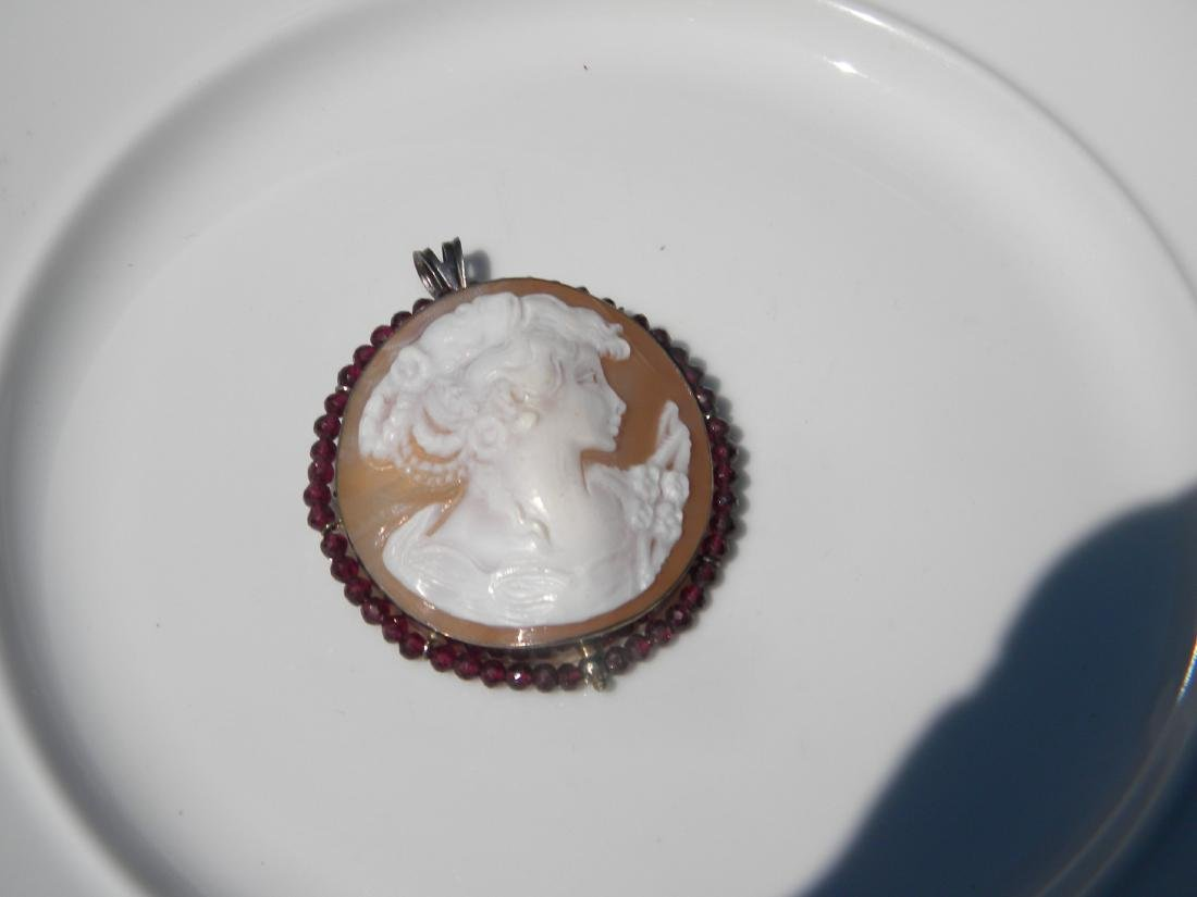 Vintage Cameo Pendant and Brooch Pin - 3