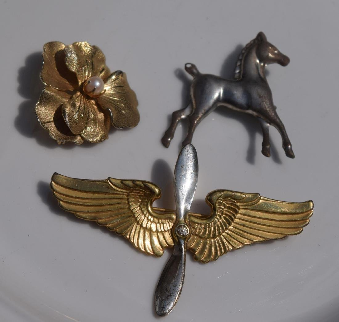 Three Silver Brooch Pins