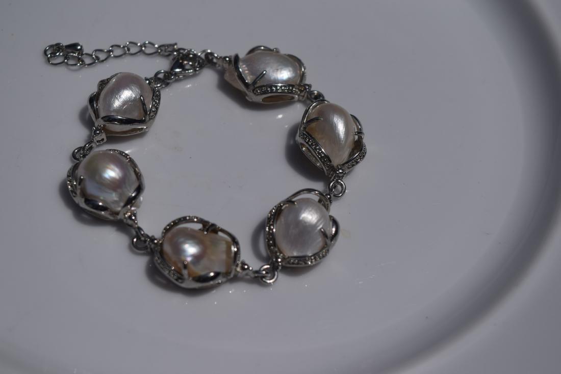 Vintage Sterling Silver Bracelet - 3
