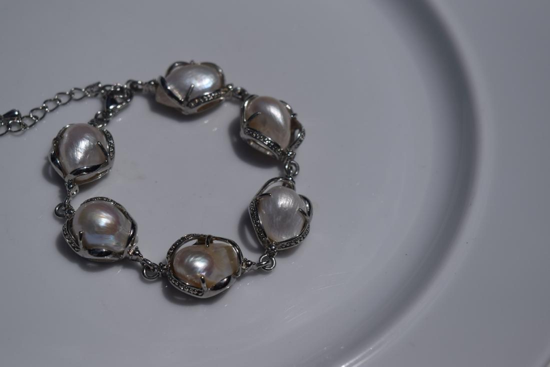 Vintage Sterling Silver Bracelet - 4