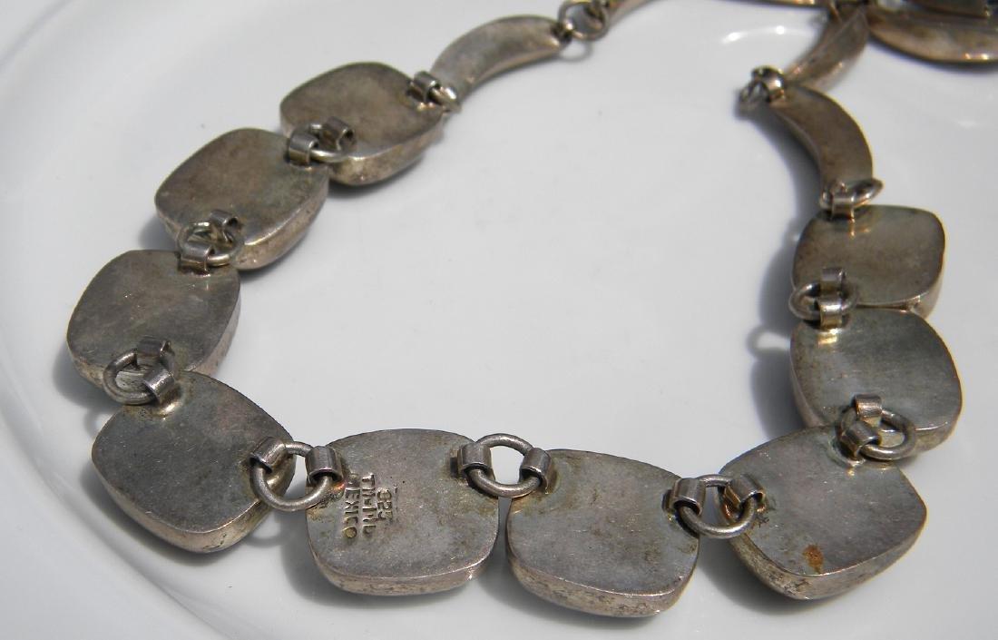 Vintage Sterling Silver Multi-stone Necklace - 3