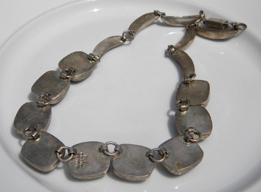Vintage Sterling Silver Multi-stone Necklace - 4