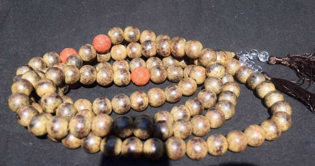 Antique Natural Chen Xiang 108 Buddha Prayer Beads