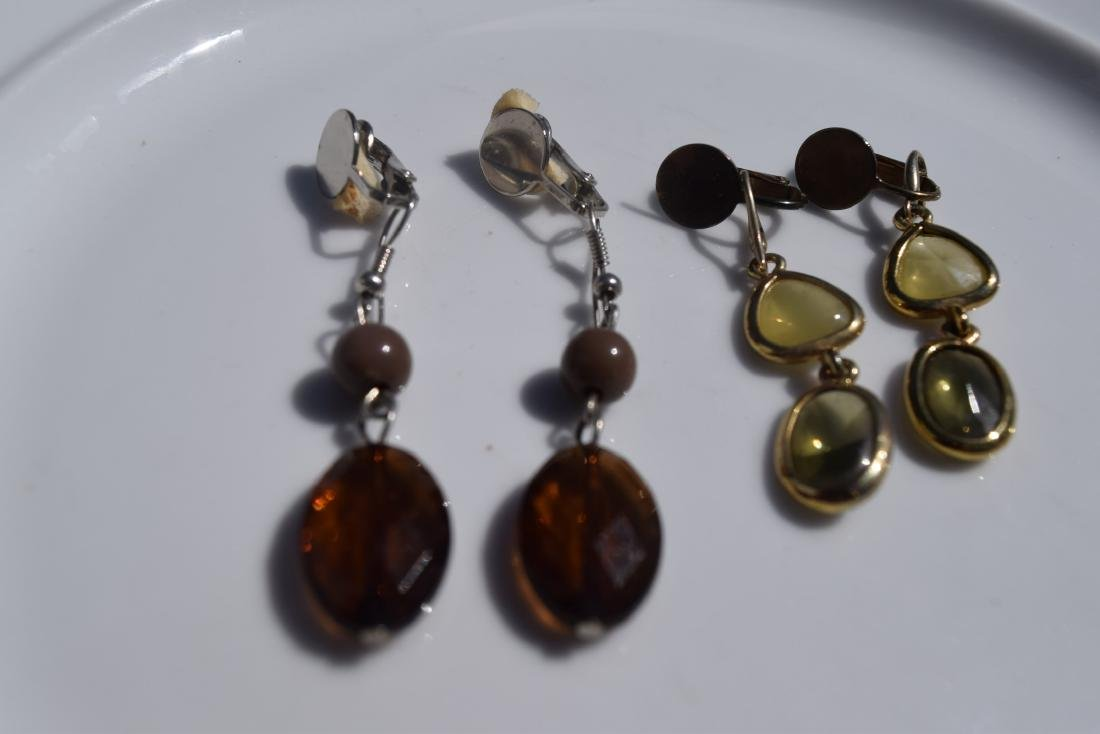 Two Pairs of Amber Earrings - 2