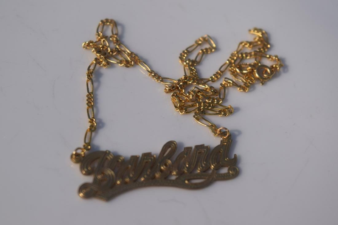 Vintage 14K Gold Necklace and Pendant