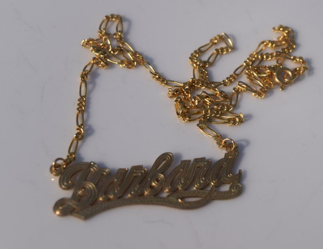 Vintage 14K Gold Necklace and Pendant - 2