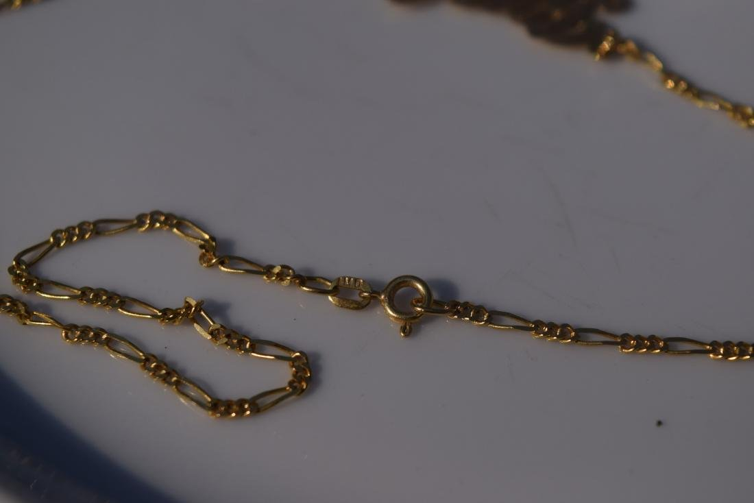 Vintage 14K Gold Necklace and Pendant - 3