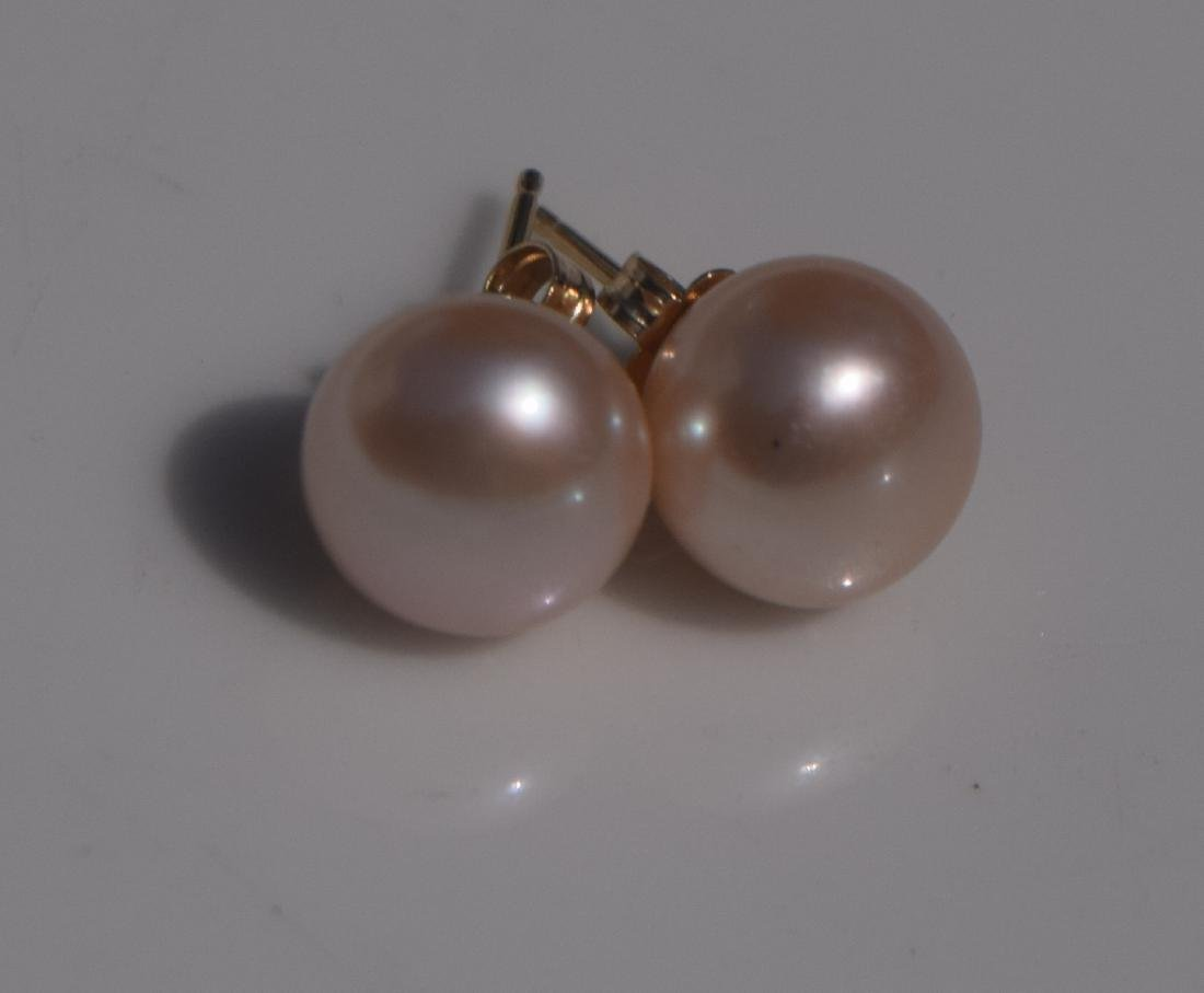 Pair of 14K Gold Pearl Earrings