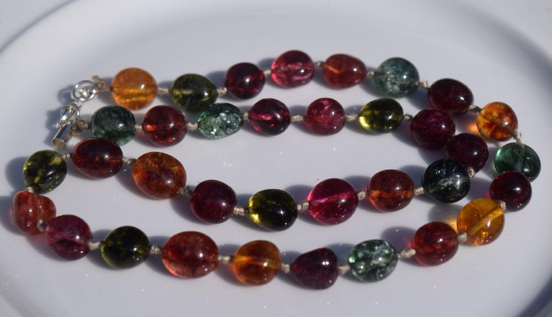 Vintage Tourmaline Beads Necklace