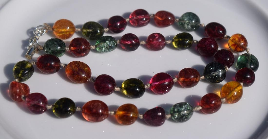 Vintage Tourmaline Beads Necklace - 2