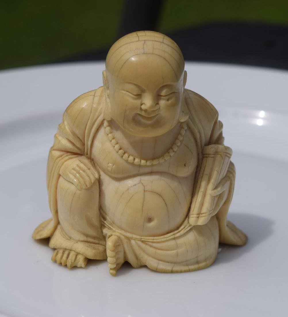 Antique Carved Buddha Statue, Ming Dynasty - 5