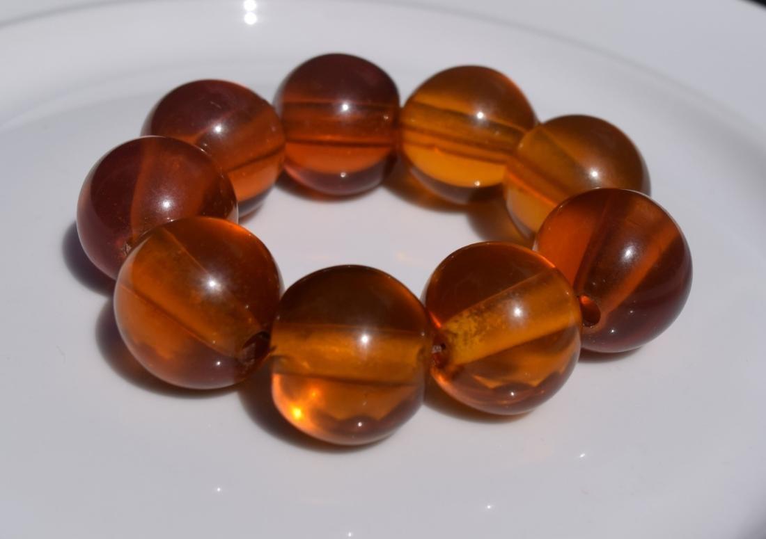 Huge Natural Amber Beads Bracelet