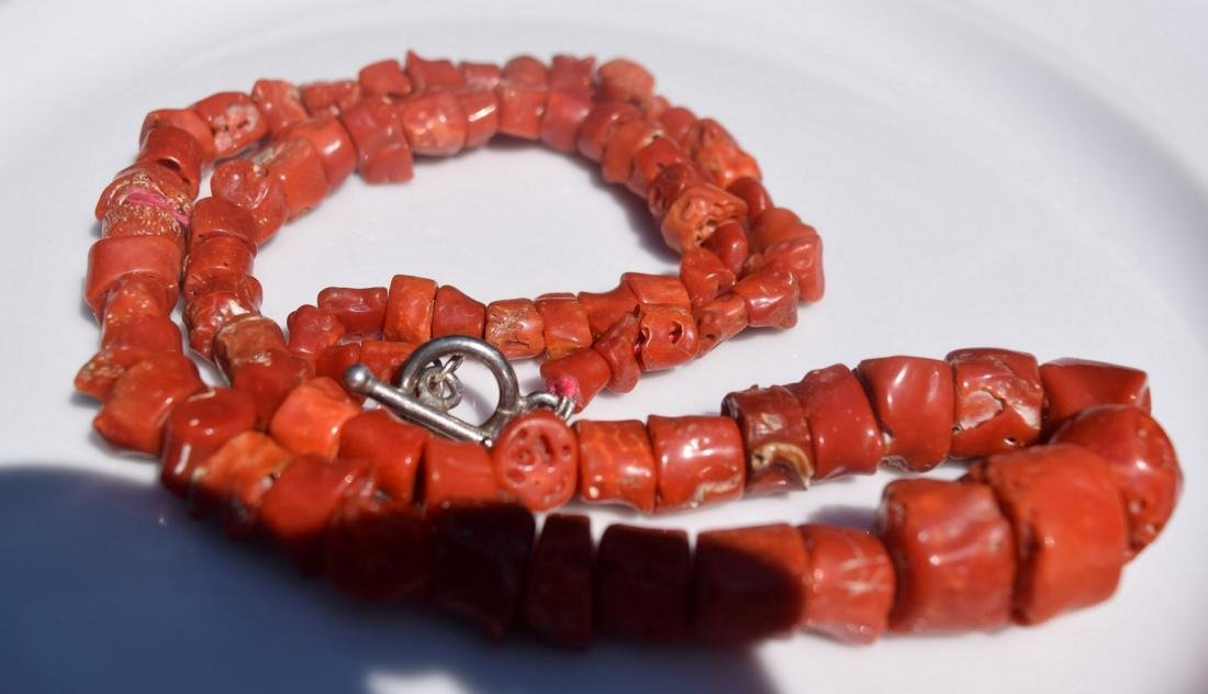 Antique Aka Red Coral Necklace - 2
