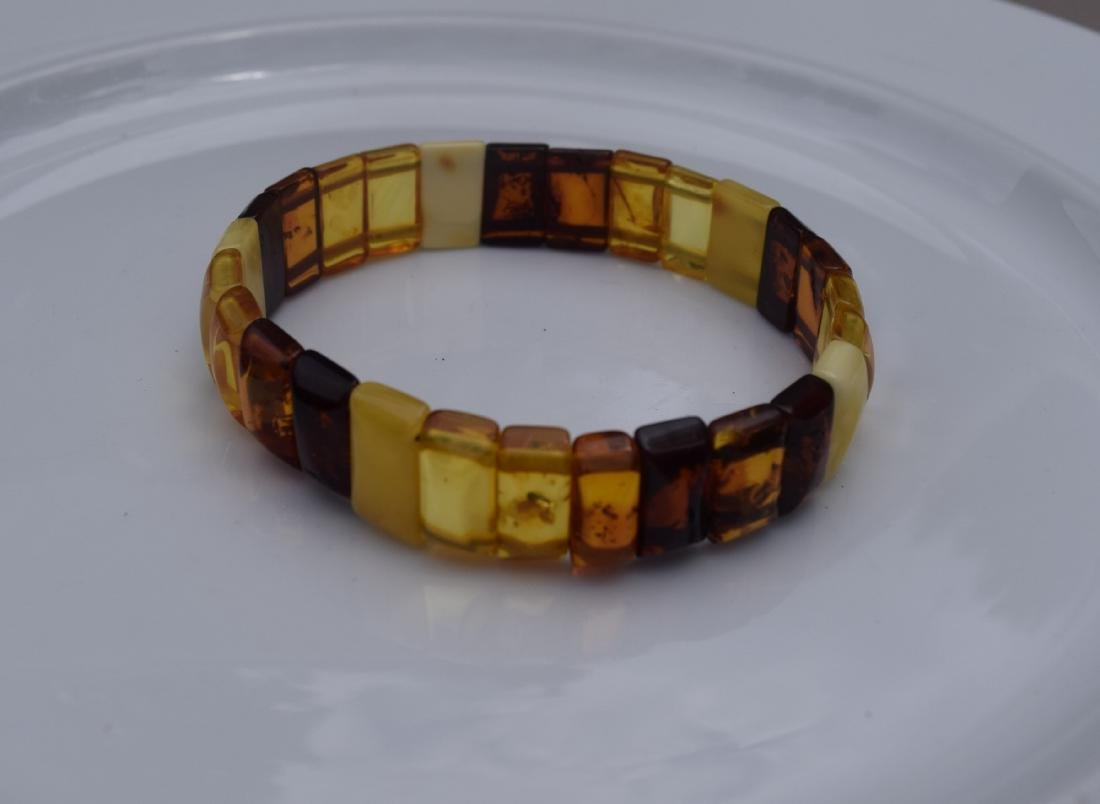 Vintage Natural Amber Bracelet - 2