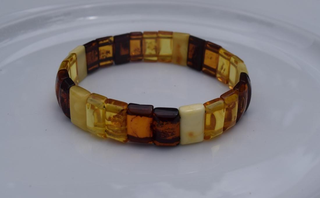 Vintage Natural Amber Bracelet - 3