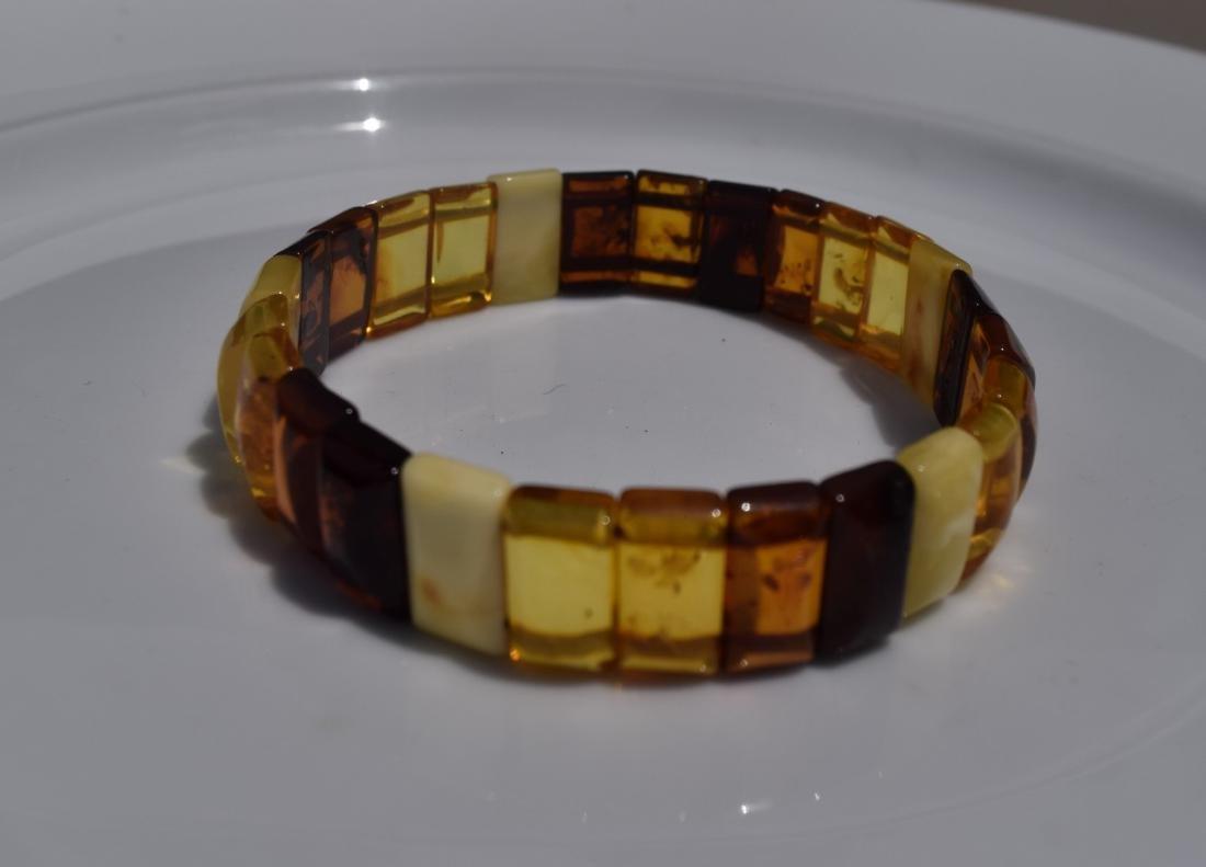 Vintage Natural Amber Bracelet - 4
