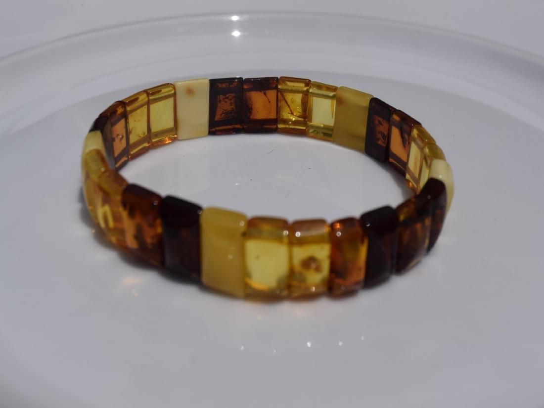 Vintage Natural Amber Bracelet - 5