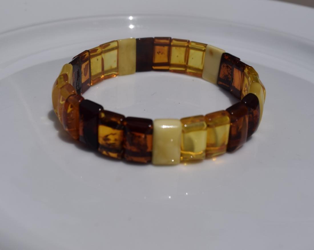 Vintage Natural Amber Bracelet - 6
