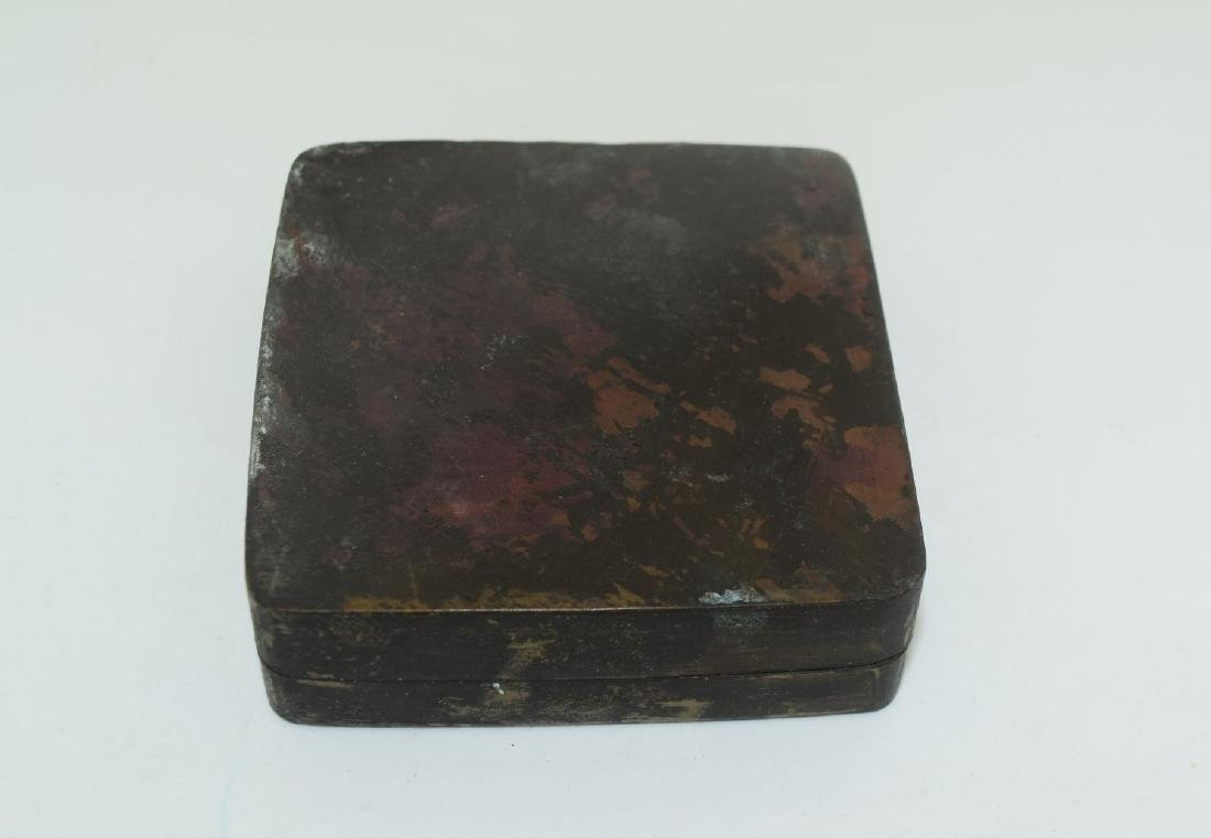 Antique Chinese Copper Ink Box - 2