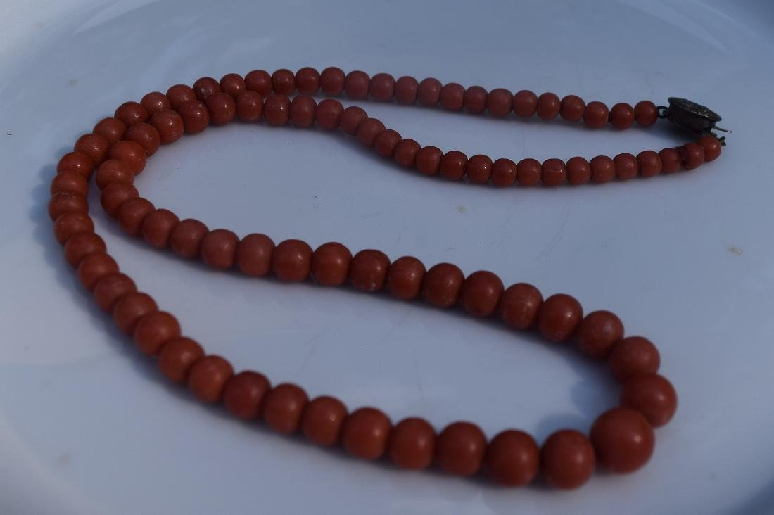 Antique Chinese Red Coral Necklace
