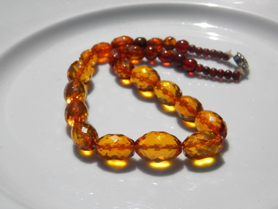Natural Amber Beads Necklace - 4