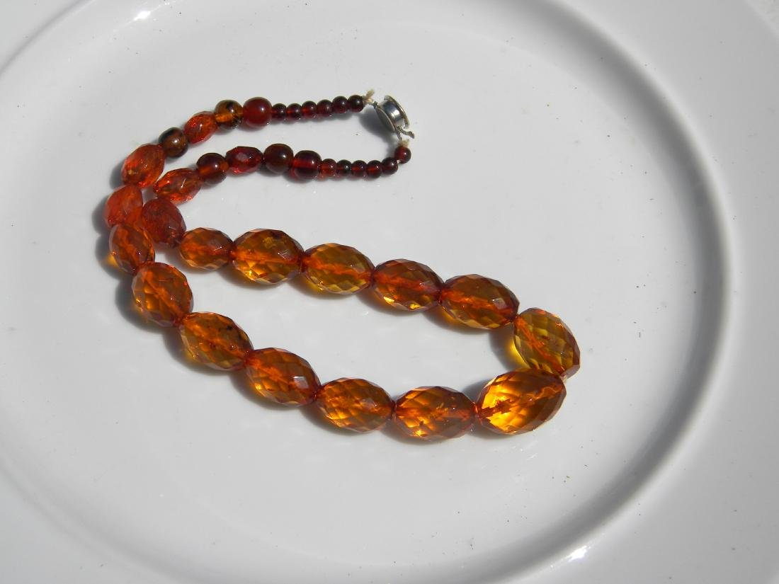 Natural Amber Beads Necklace - 5
