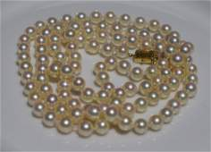 Vintage 14K Gold Clasp Pearl Necklace