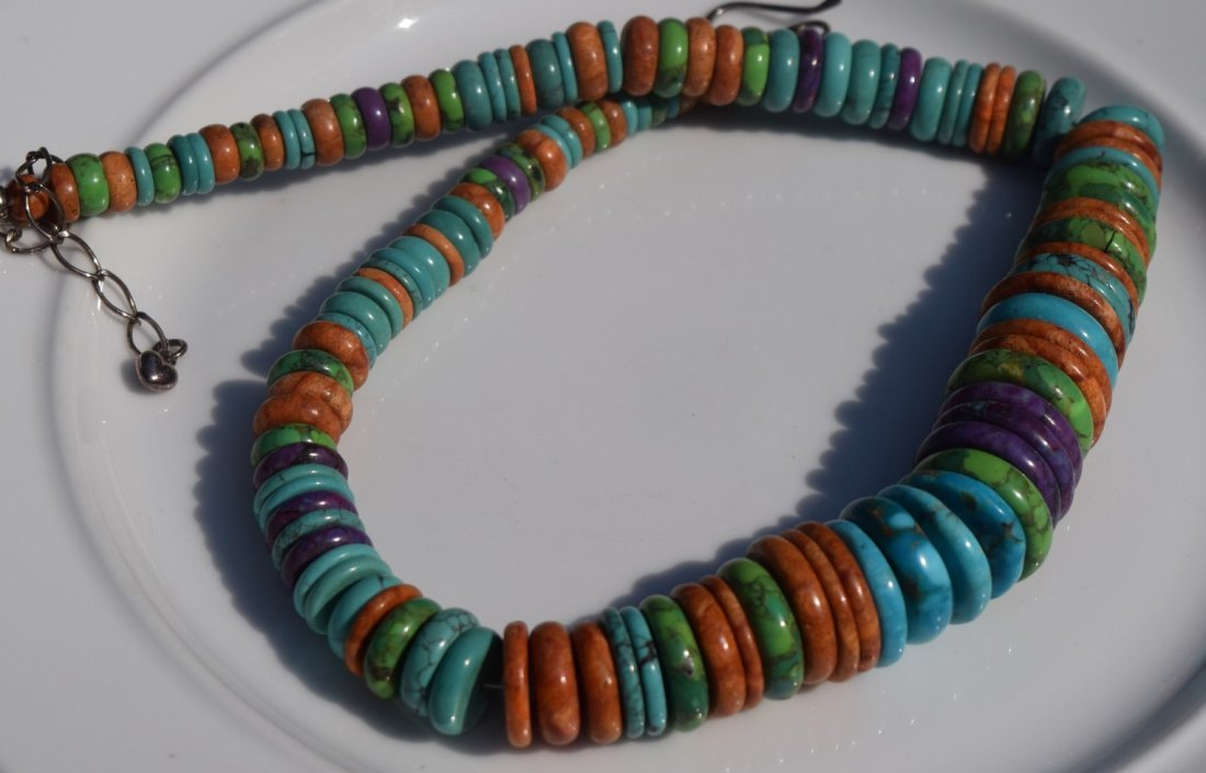 Vintage Turquoise Necklace Silver Bale
