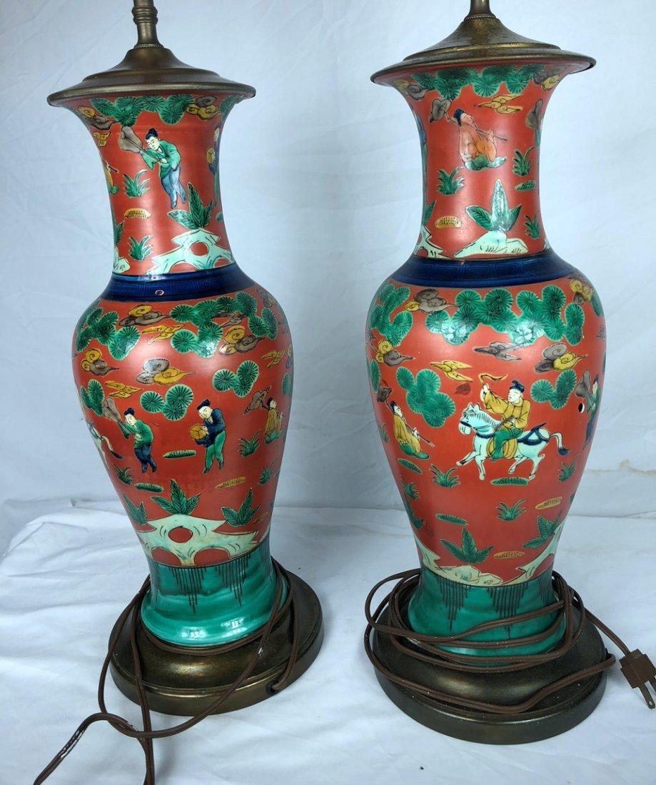 Pair of Antique Red Glazed Vases - 2