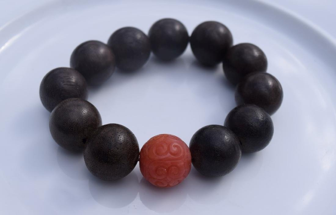 Antique Chen Xiang and Nan Hong Beads Bracelet