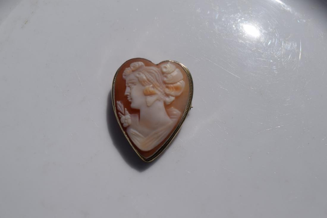 Vintage Sterling Silver Cameo Brooch Pin and Pendant