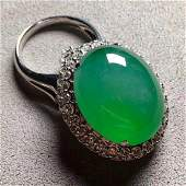 GIA Certified Green Jadeite Ring and Pendant,Size of