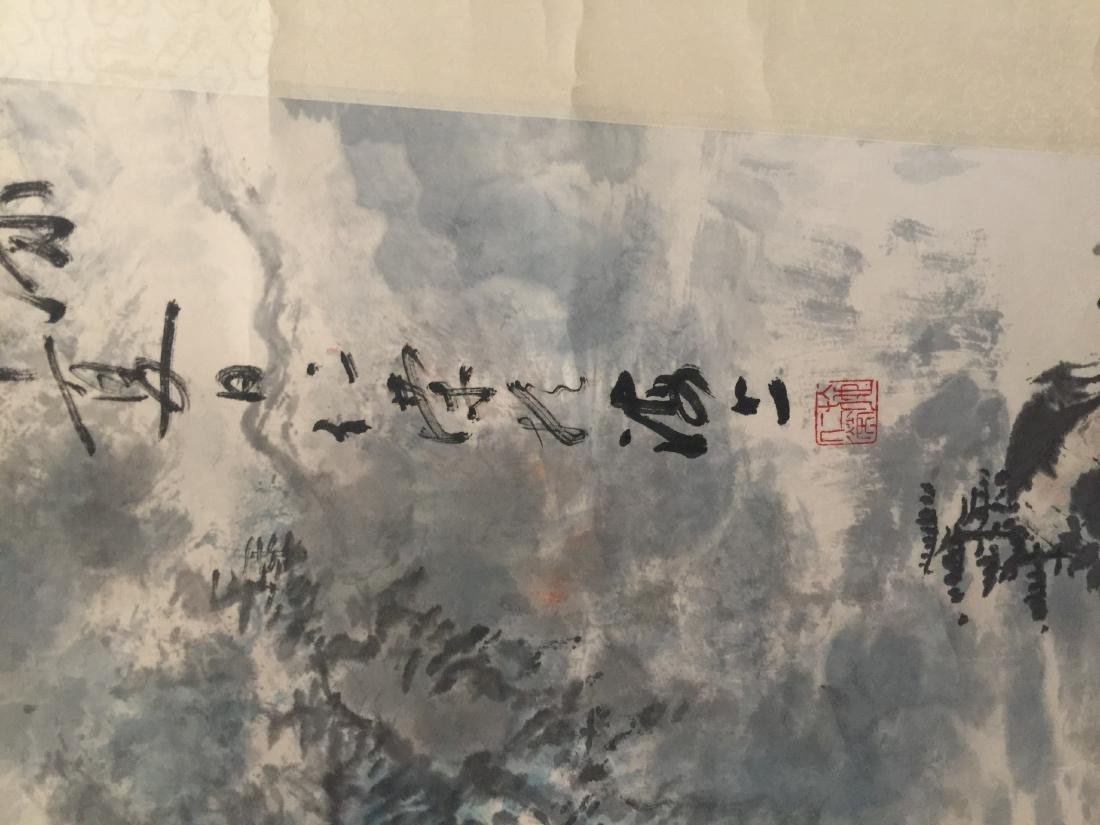 Antique Chinese Painting Mountain Scene by Ren Rong - 4