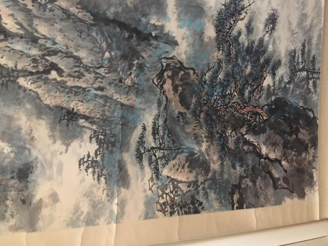 Antique Chinese Painting Mountain Scene by Ren Rong - 7