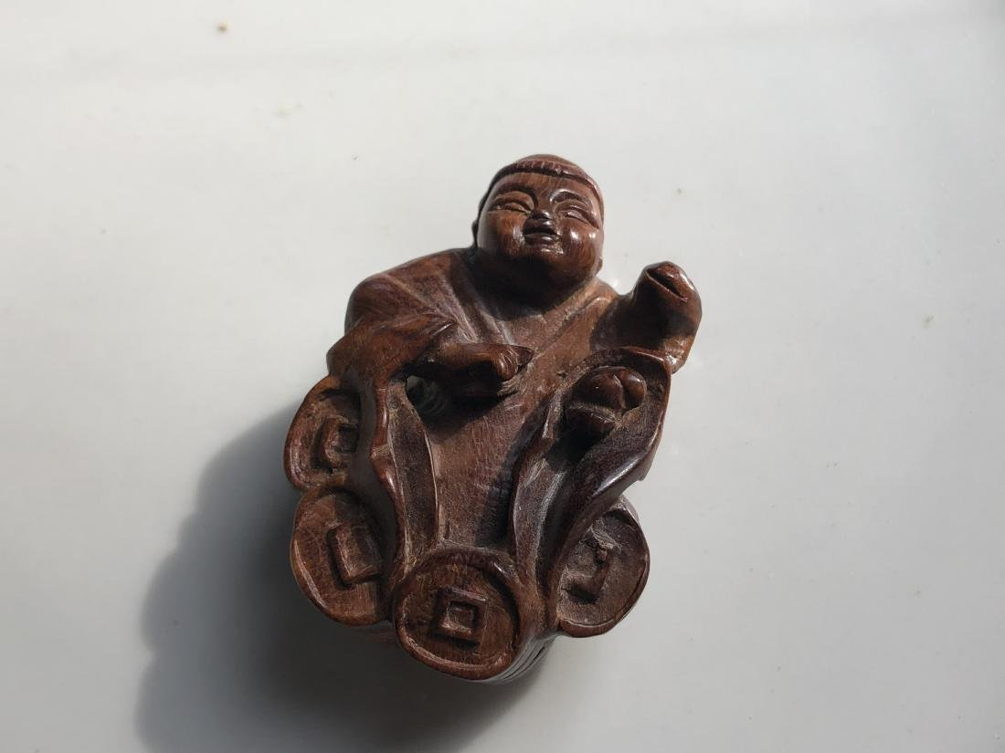 Vintage Huang Hua Li Liu Hai and Frog Pendant - 2