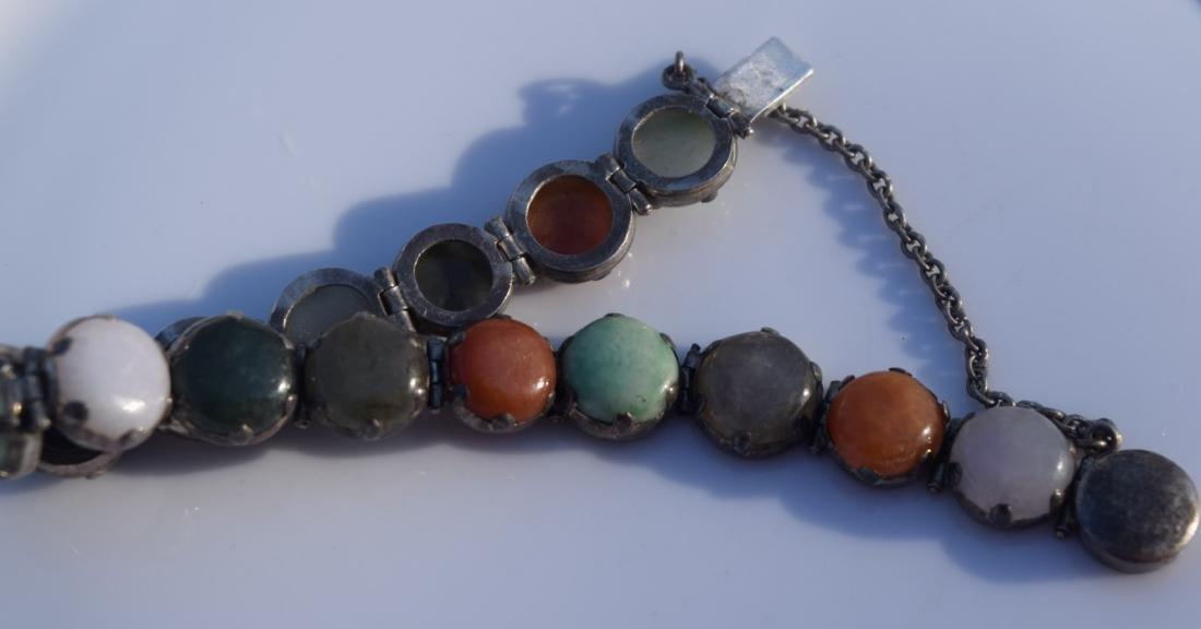 Vintage Sterling Jadeite Bracelet