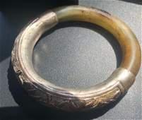 Vintage Chinese Silver Jade Bracelet