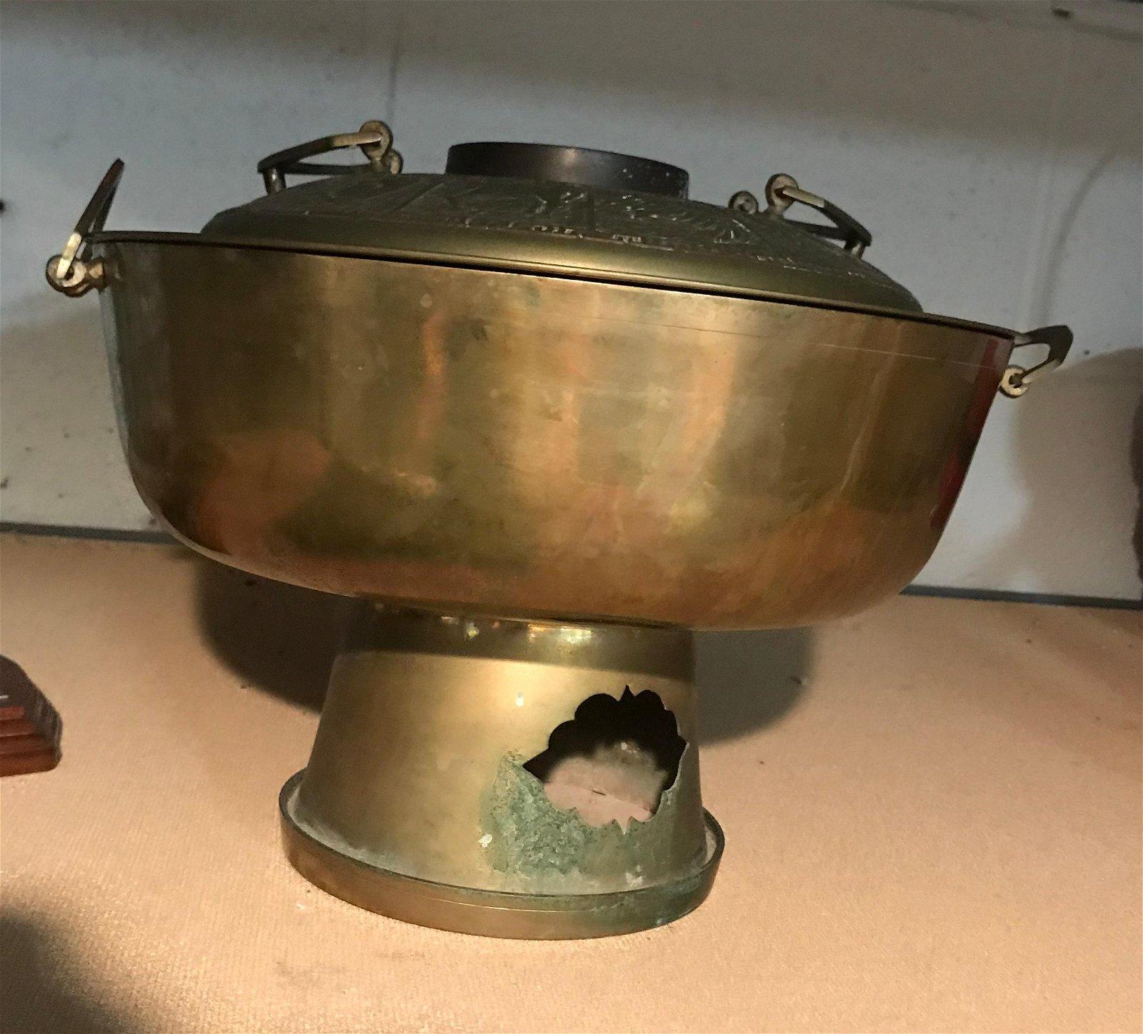 Vintage Copper Hot Pot