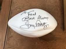 Original NFL RB Tony Dorsett Signed Football No.33