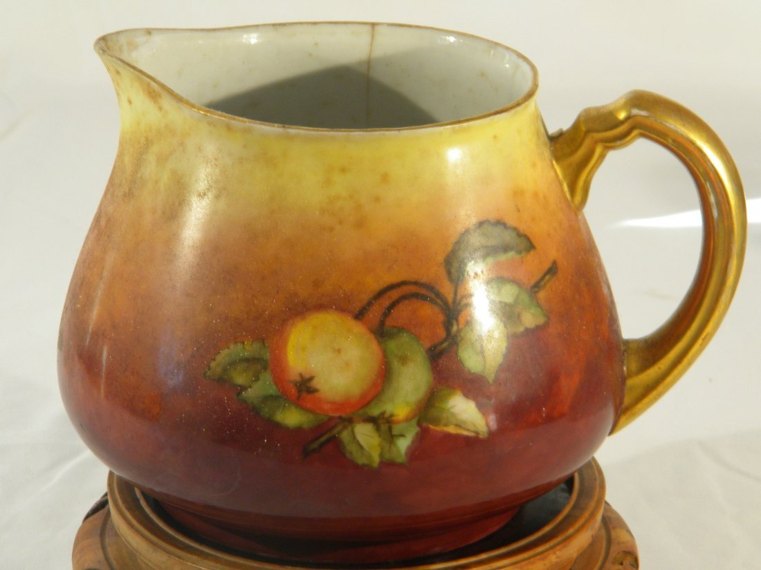 ANTIQUE PORCELAIN PITCHER FRENCH LIMOGES YEAR 1903