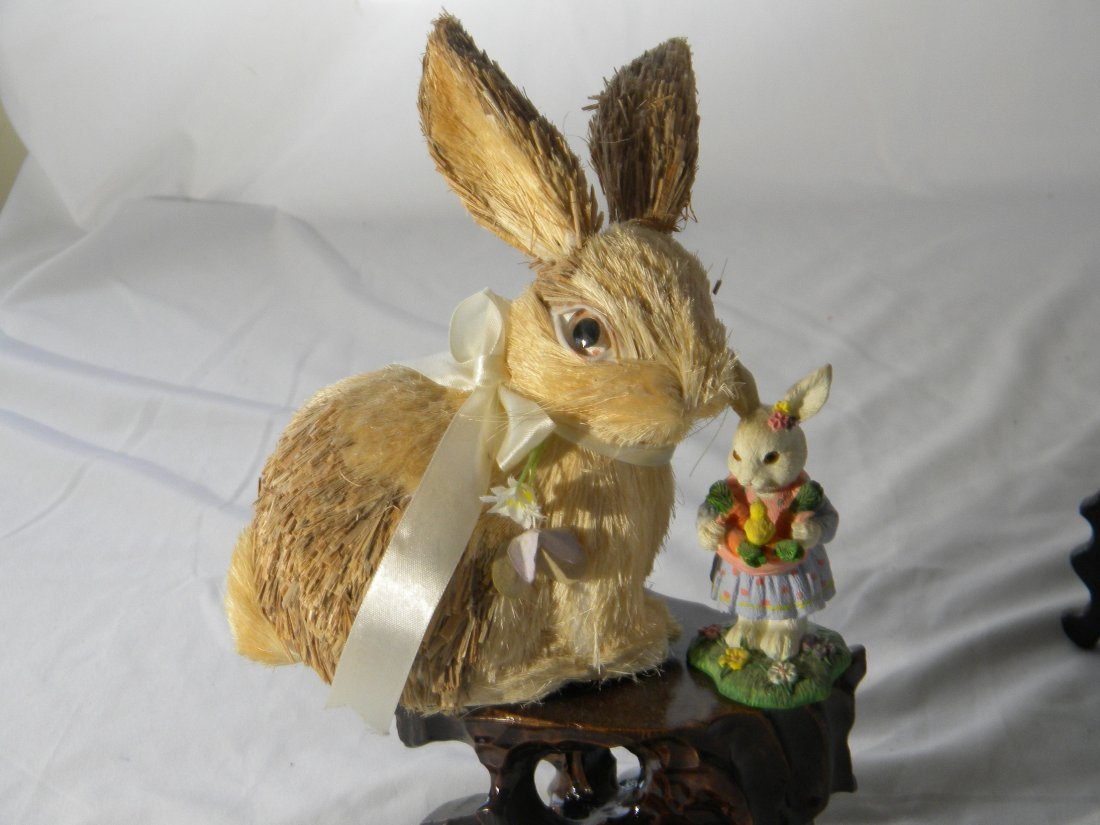 TWO RABBITS FOR DISPLAY