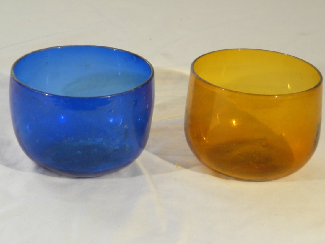 PAIR OF EUROPEAN ANTIQUE GLASS CUPS