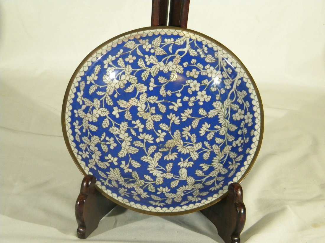 CHINESE ANTIQUE CLOISONNE BIG PLATE