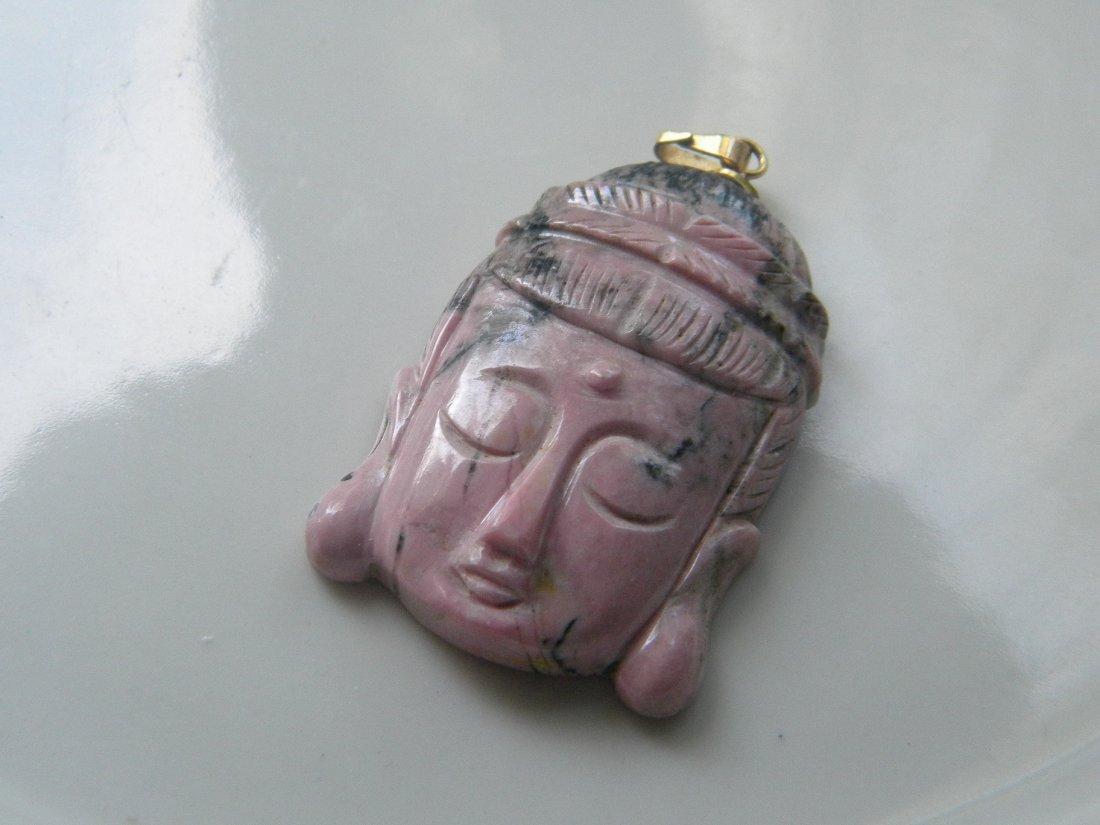 VINTAGE CHINESE BUDDAH HEAD PENDANT