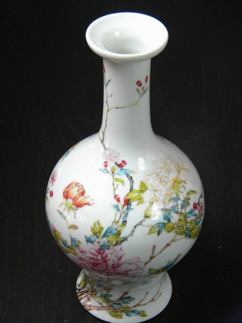 & Lenox Chinese Flower Vase Marked Yongzheng