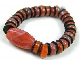 Antique Chinese Carnelian Nanhong Bracelet